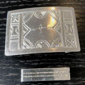 Boucle de ceinture mixte argent Bijoux touaregs,Boucle de ceinture mixte en argent finement ciselée et faite main